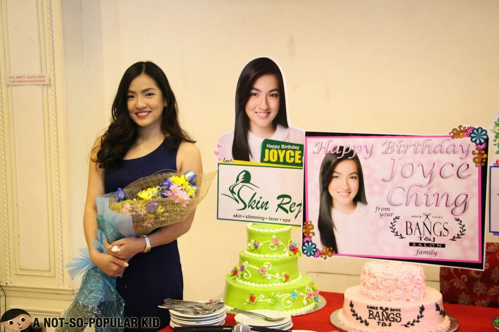 Joyce Ching with the cakes for her 19th Birthday
