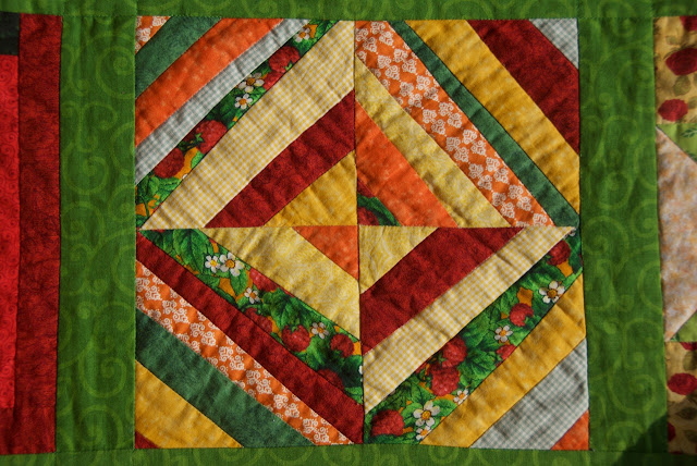 The Sunny Sampler - crazy strips block