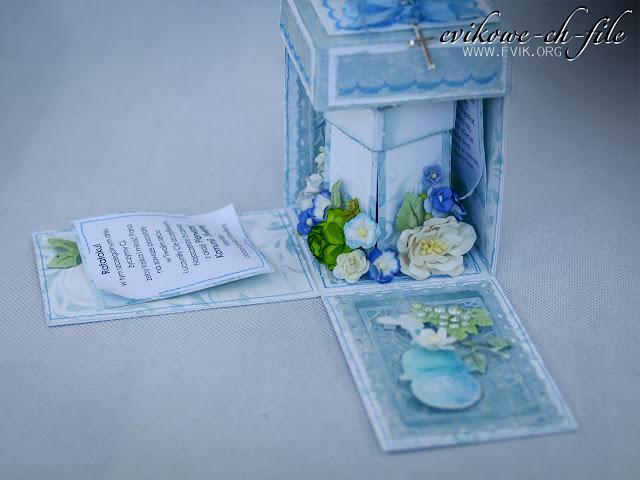 exploding box, Evik, handmade box