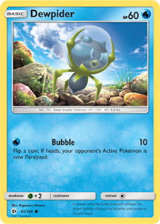 Dewpider Sun and Moon Pokemon Card