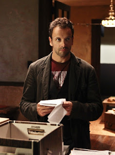 "Jonny Lee Miller as Sherlock Holmes in Elementary Episode # 3 ""Child Predator"""