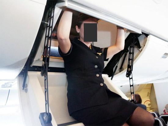 Compartimento secreto exclusivo tripulação aviões 2