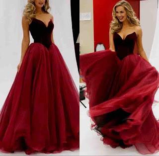 فستان عرس احمر