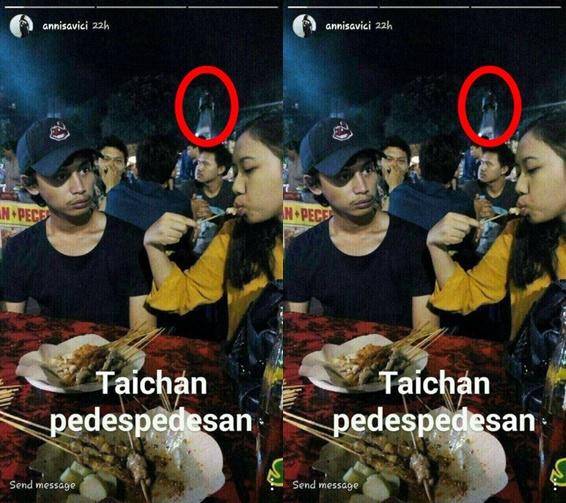 Foto Penampakan Kuntilanak di Warung Sate Taichan Jadi Viral di Instagram