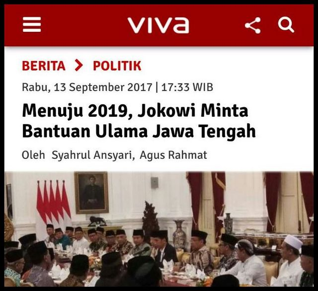 Menuju 2019, Jokowi Minta Bantuan Ulama Jawa Tengah, Ini Tanggapan Makjleb Warganet