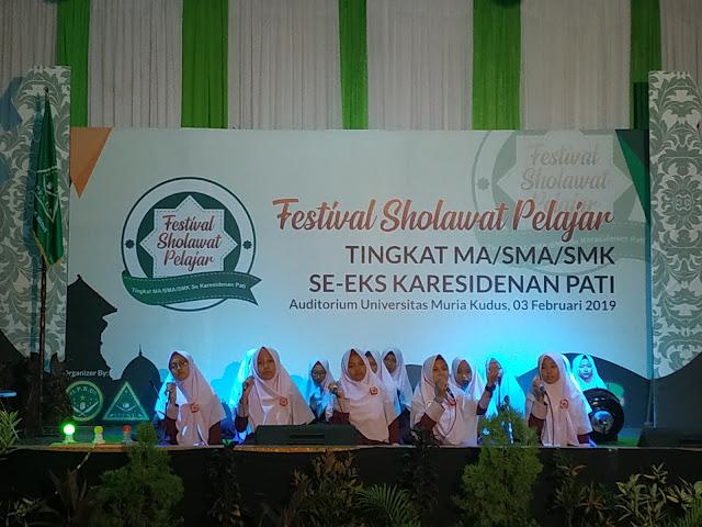 Dwi Syaifullah Buka Festival Sholawat Pelajar se-Karesidenan Pati.