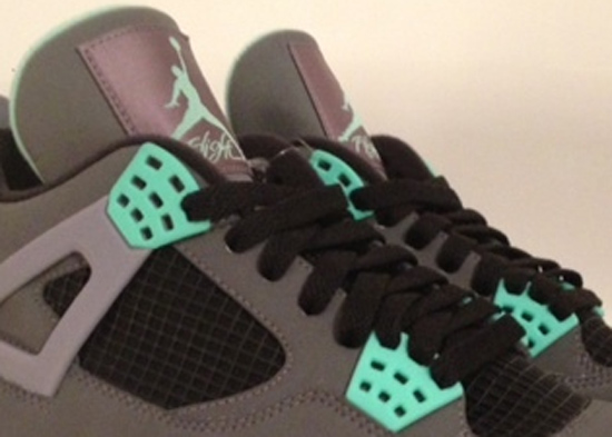 quality design 64799 67ca1 Air Jordan 4 Retro Dark Grey Green Glow-Cement Grey-Black August 2013.  Another view of this new ...