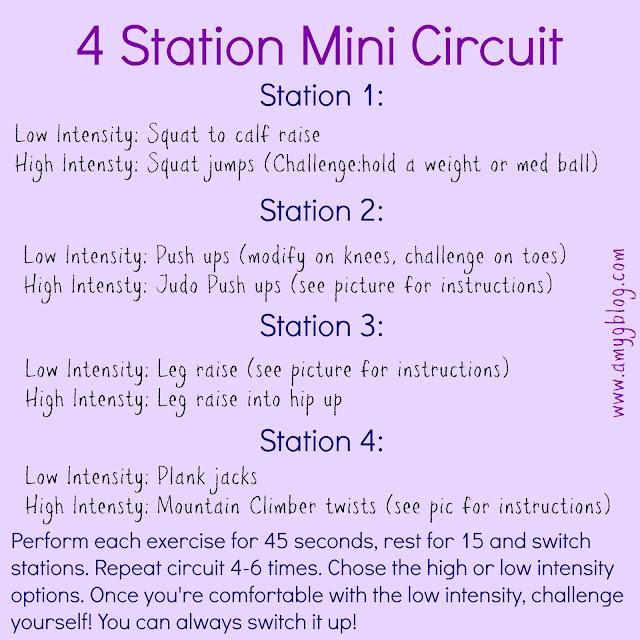 4 Station Mini Bodyweight Circuit Workout