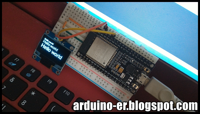 Arduino er connect i c oled ssd to esp