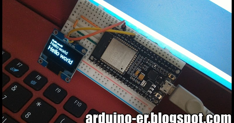 Arduino-er: Connect I2C 128X64 OLED (SSD1306) to ESP32