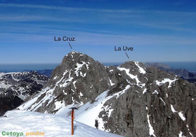 Pico La Uve el Macizo del Mampodre.