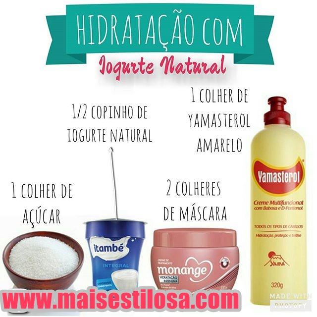 hidratação com iogurte