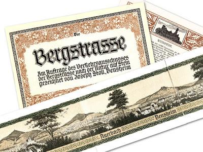 """Werbeprospekt """"Die Bergstraße"""" von 1911 von Joseph Stoll"""