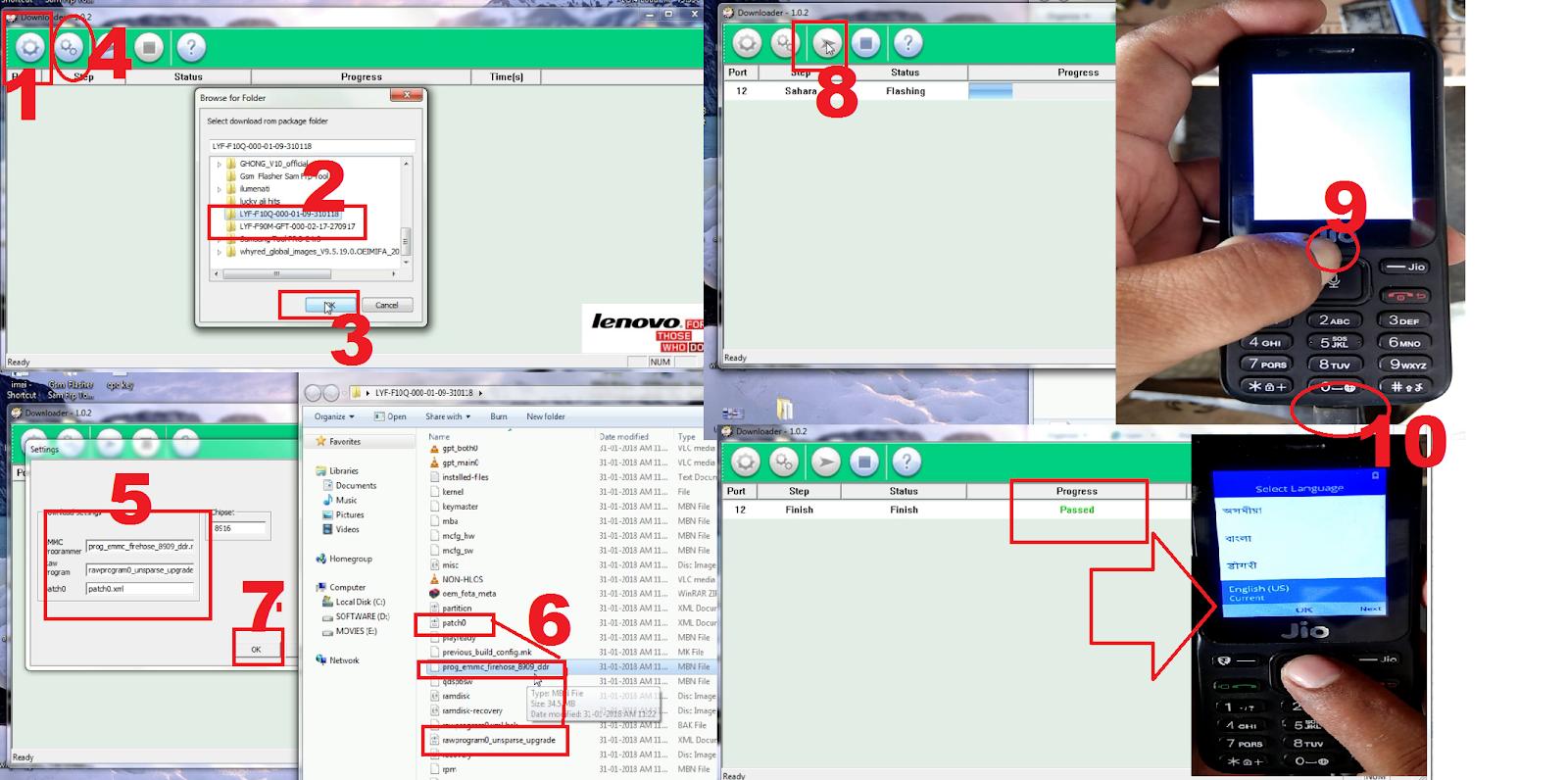 how to flash jio lyf f90m and f10q qulocom loder - MOBILE