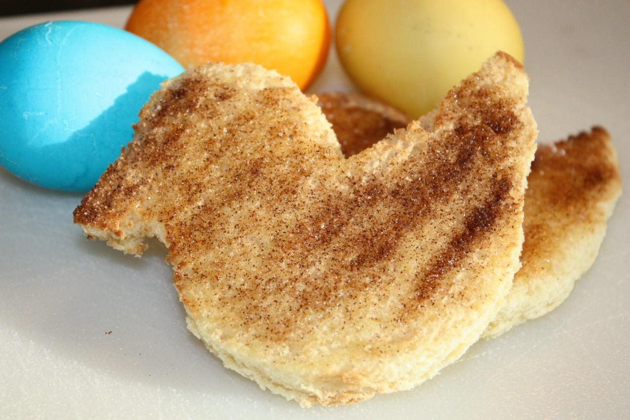 pass the peas, please: cinnamon-sugar toast