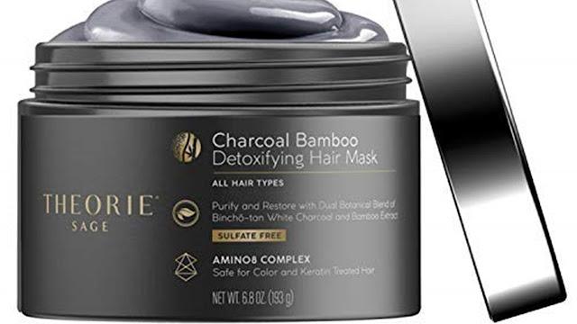 Mascarilla para el cabello desintoxicante de carbón y bambú