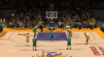 NBA 2K13 Staples Center HD Court Patch