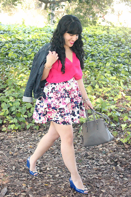Jean Jacket and Floral Skirt Spring Summer Inspiration