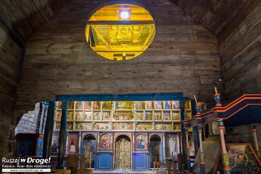 Radruż - wnętrze drewnianej cerkwii