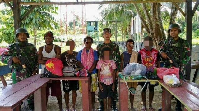 Personel Pos Skofro Amankan Pelintas Batas Ilegal Warga PNG