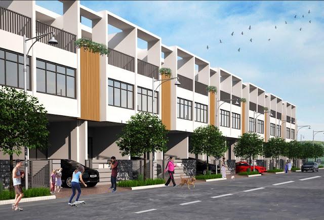 Phối cảnh mẫu nhà liên kế 3 tầng tại dự án khu dân cư Nhơn Đức