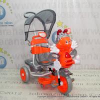 Sepeda Roda Tiga Family F845DT Lebah Suspensi Orange