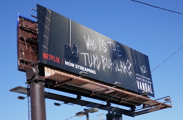American Vandal season 2 turd burglar billboard