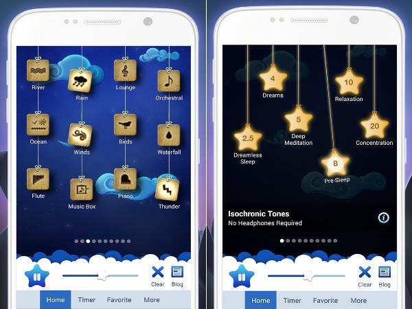 App Relax Melodies para el estrés, la ansiedad y el sueño