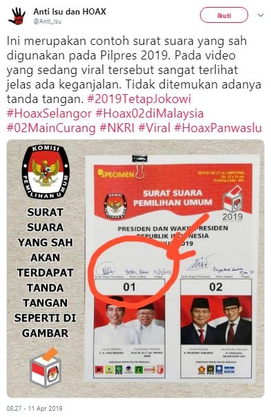 Deretan Kejanggalan Surat Suara Tercoblos di Malaysia Diungkap Warganet #HoaxSelangor