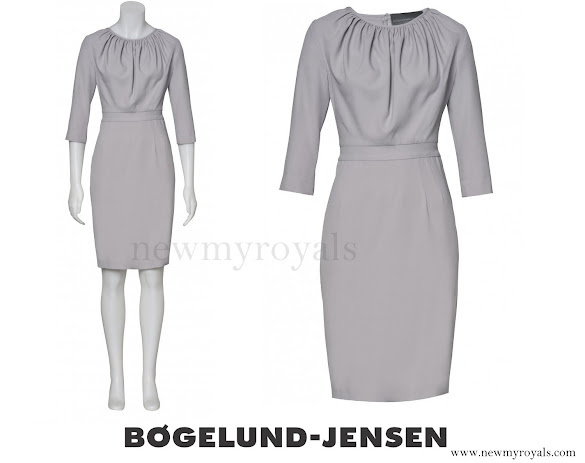 Crown Princess Mary wore BØGELUND-JENSEN Elena Crape Dress