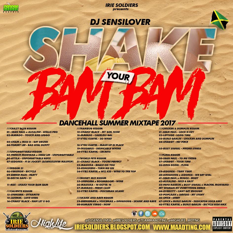 SHAKE YOUR BAM BAM - DANCEHALL SUMMER MIXTAPE 2017 - DJ