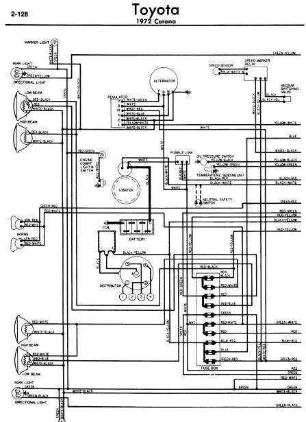 repair-manuals: Toyota Corona 1972 Wiring Diagrams