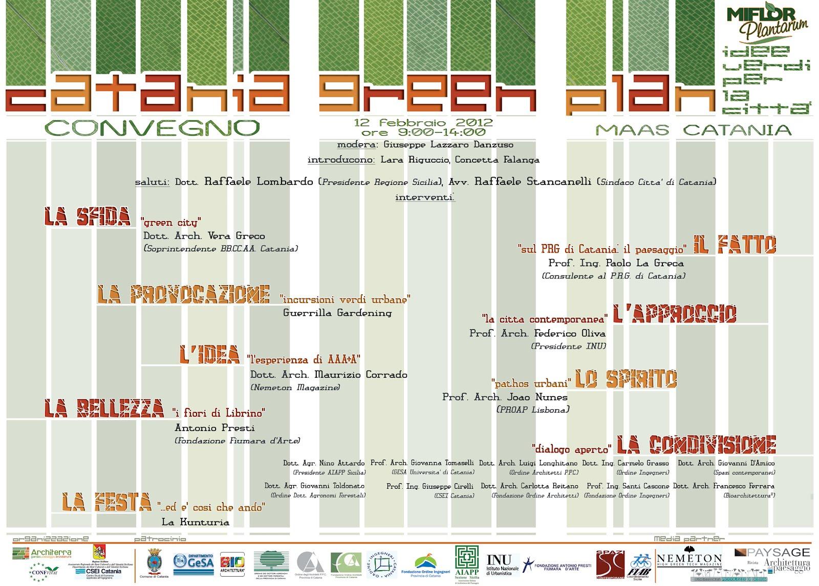 ARCHITETTURA CATANIA Catania Green Plan 2012 4a edizione