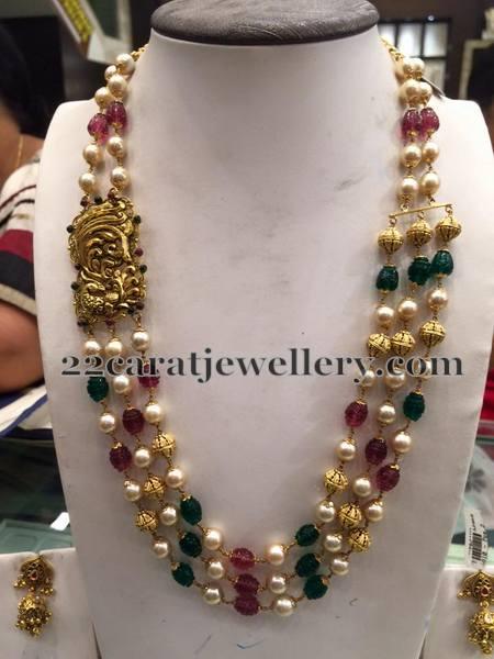 Multi Strings Gemstone Beads Sets Jewellery Designs