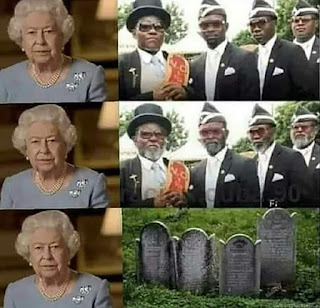 queen isabel II - coffin blacks
