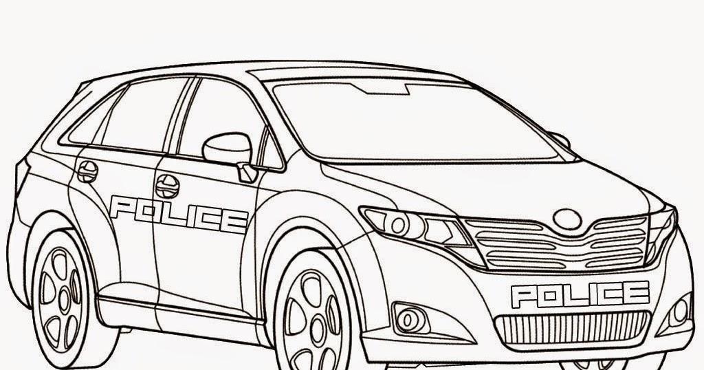 Mewarnai Mobil Polisi  Mobil Keren  Mewarnai Online