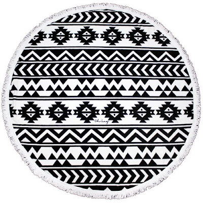 round aztec beach towel