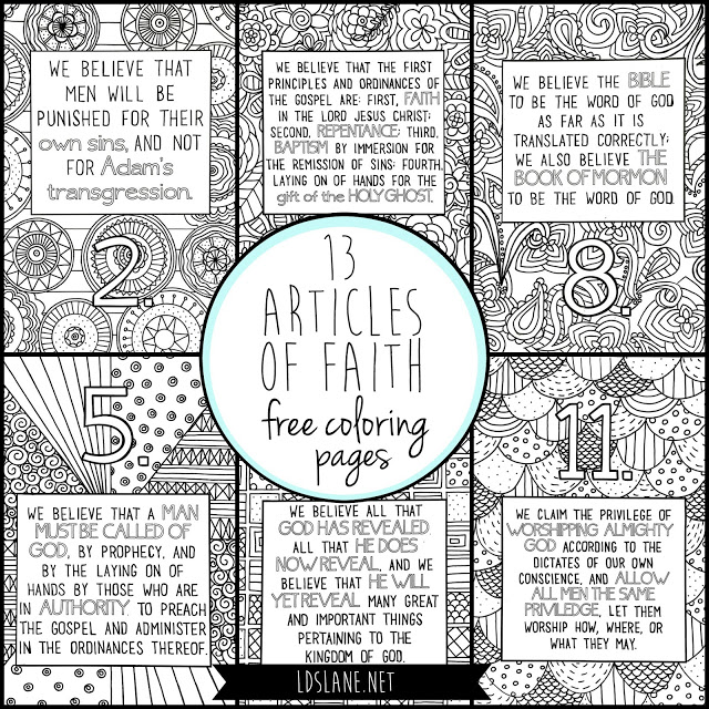 Articles Of Faith Activity Book