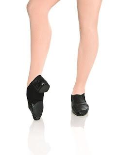 botinha cano curto preta jazz sapato de dança