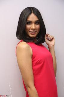 Spatika Surapaneni in Red Tight Dress at FBB Miss India 2017 finalists at Telangana auditions Feb 2017 (57).JPG