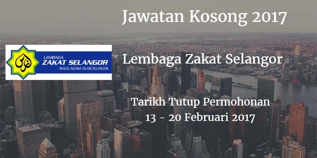 Jawatan Kosong MAIS 13 - 20 Februari 2017