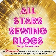Este blog está entre los blogs all stars sewing blogs de pinterest