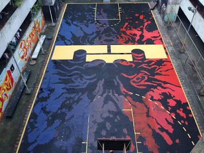 Iconic Basketball Court at the Tenement Ready for LeBron James