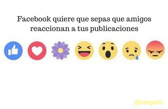 facebook, redes sociales, reacciones, publicaciones