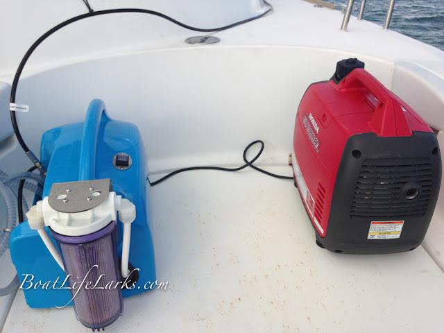 Honda 2000 generator and Rainman Watermaker