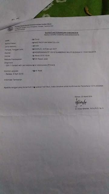 Contoh Surat Keterangan Diagnosis