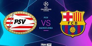 بث مباشر مباراة برشلونة و ايندهوفن مباشر اليوم دوري ابطال اوروبا