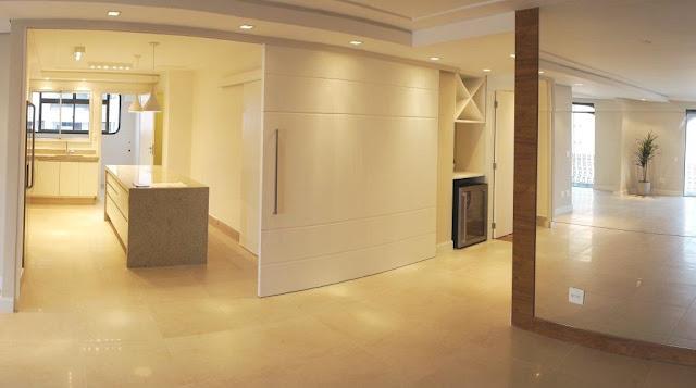 Construindo minha casa clean decora o da leitora sala for Porta m