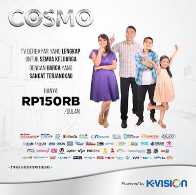 K Vision Cosmo TV Berlangganan Terbaru Murah