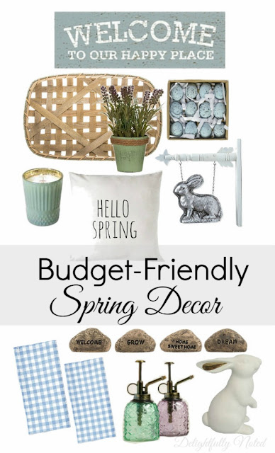 spring decorating on a budget